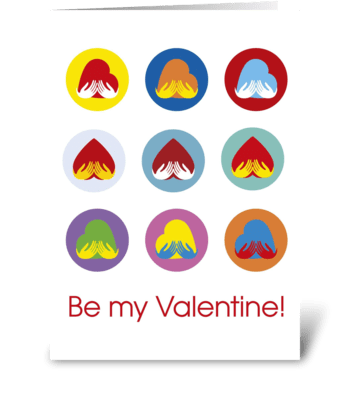 Valentine's-Day_Heart-in-hands-pop-art greeting card
