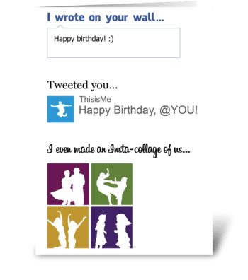 Social Media Card greeting card