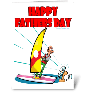 In-Extreme Sports Dad Father's Day card greeting card