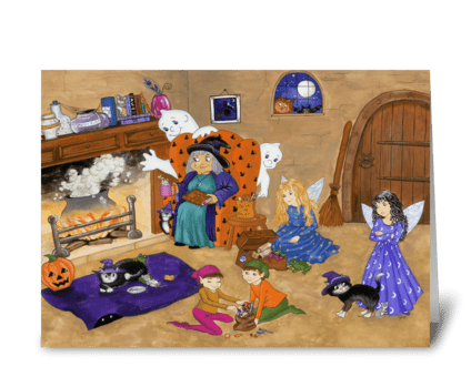 Halloween Magic greeting card