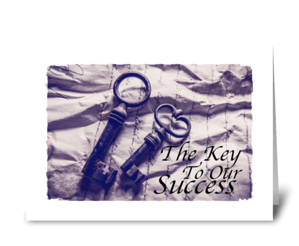 our success is you greeting card