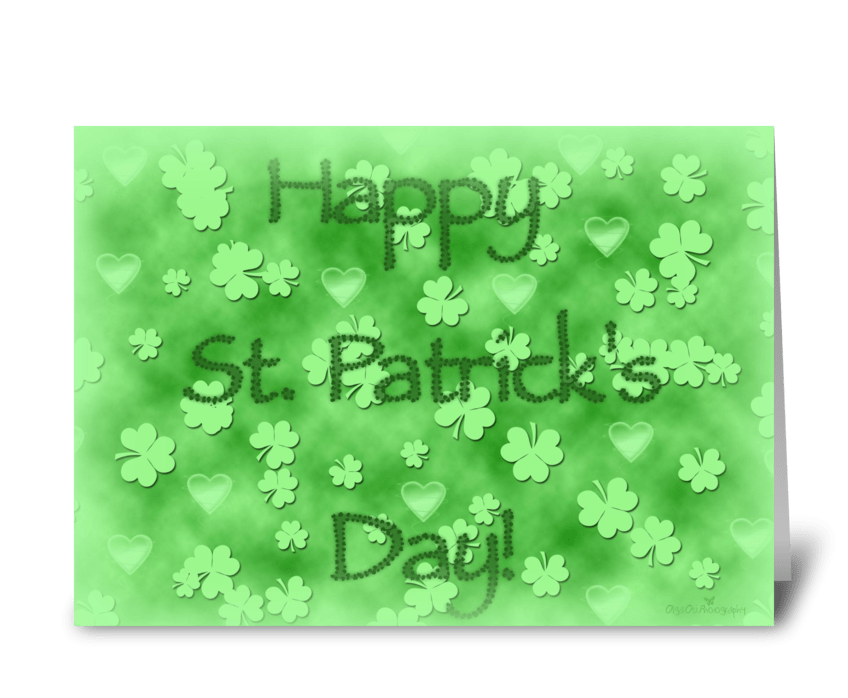 Happy St-Patrick's Day greeting card