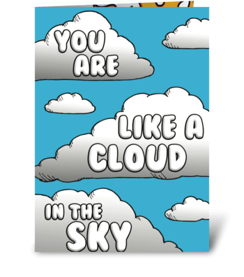 Cloud in the sky! greeting card