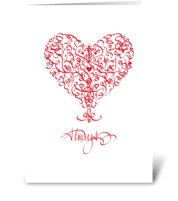 Ribbon Heart, Love greeting card