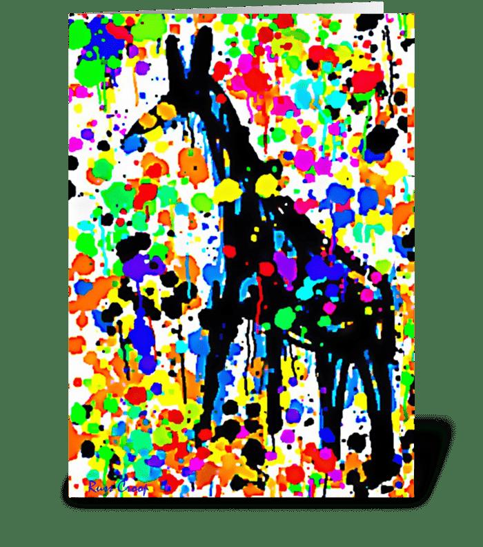 A Giraffe named Betty greeting card