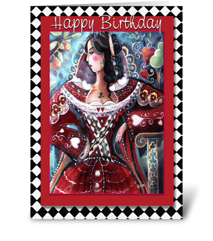 Queen's Birthday, pretty greetings greeting card