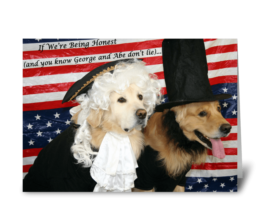 A Presidential Birthday greeting card