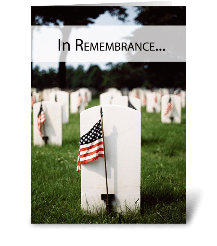 3446 Memorial Day Patriotic, Remembrance greeting card