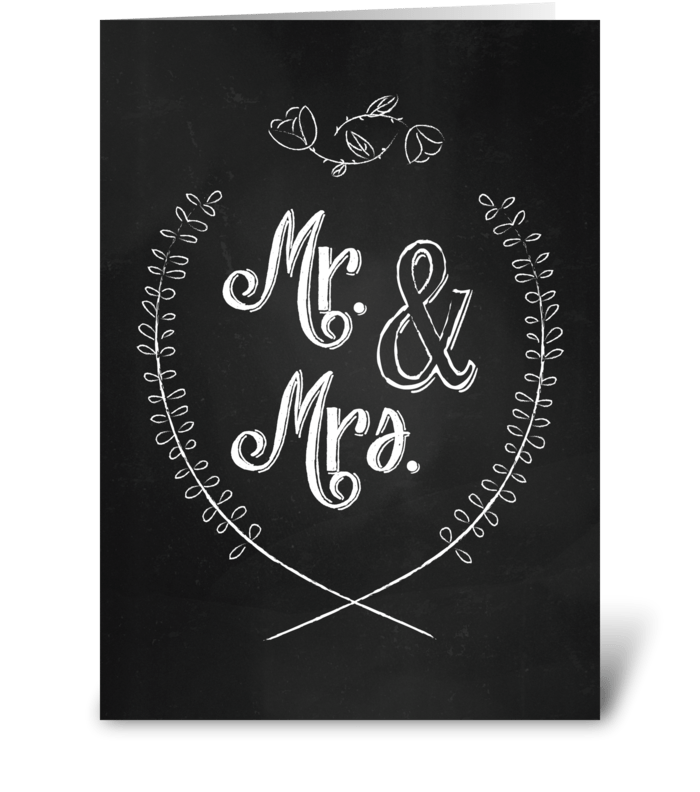 Mr. & Mrs.  greeting card