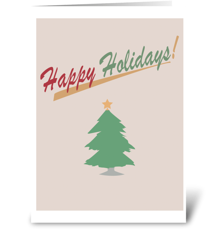 Holiday Tree greeting card