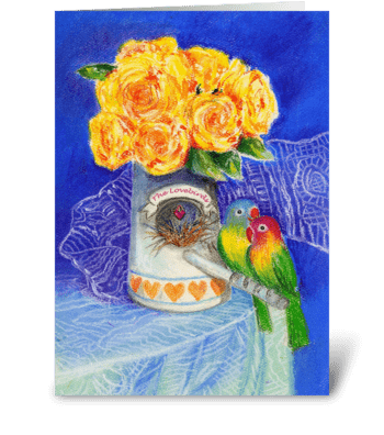 Marriage Congrats to the Lovebirds greeting card