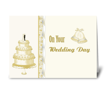 Wedding Cake Congratulations  greeting card