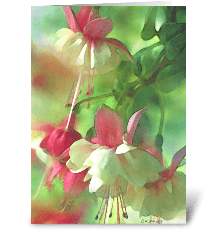 Spring Blossom Floral Greeting Card greeting card