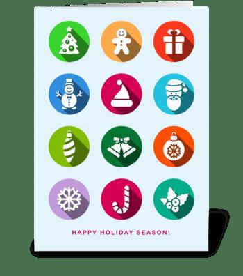 Happy Holiday Season/Christmas/New Year greeting card