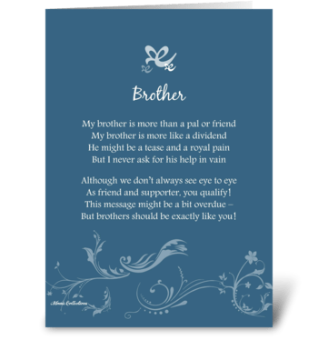 Poetry Brother greeting card