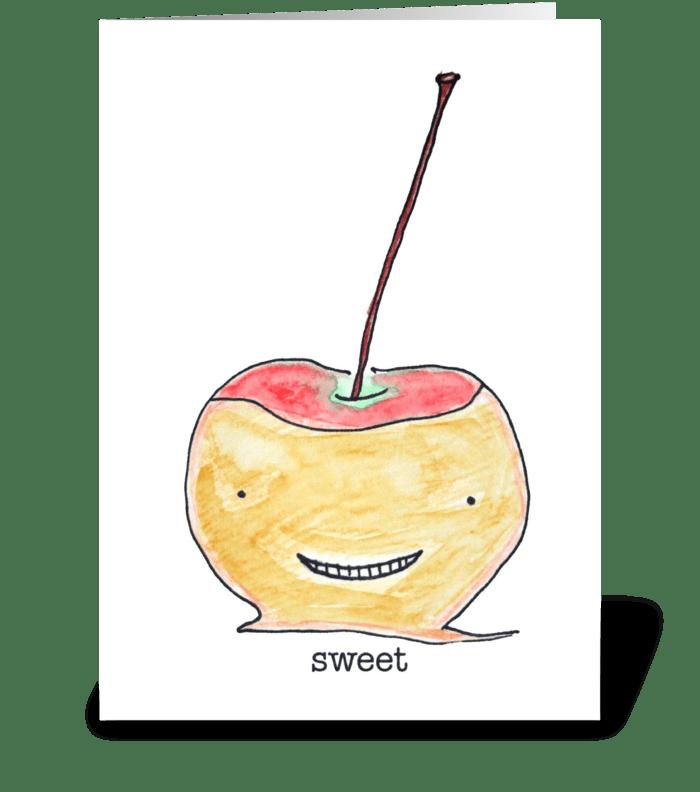 Sweet Apple greeting card