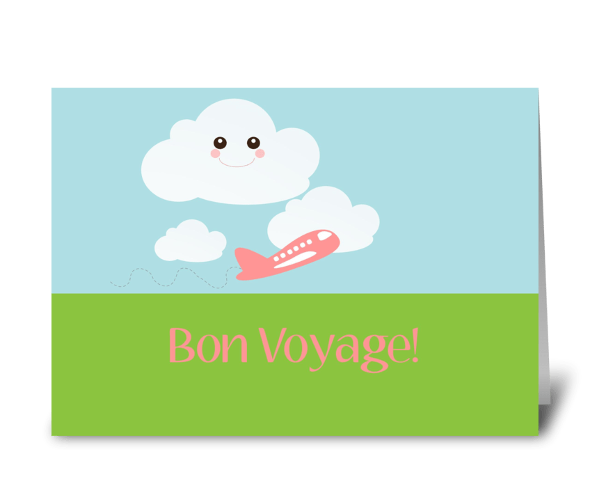 Bon Voyage! greeting card