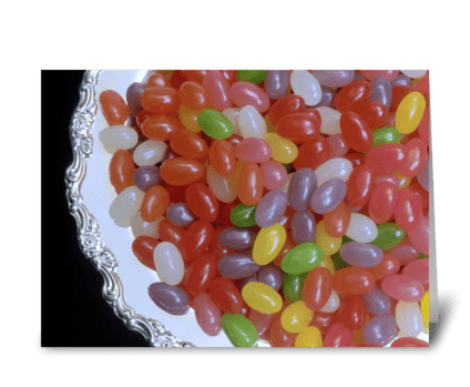 Jelly Beans! greeting card
