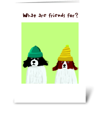 Bad Hair Day Friendship greeting card