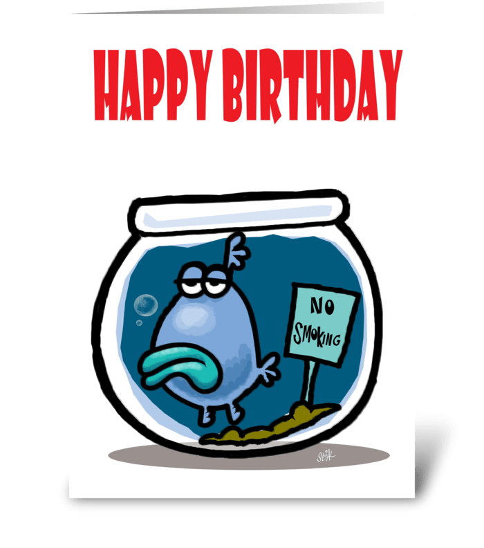 No Smoking Birthday card greeting card