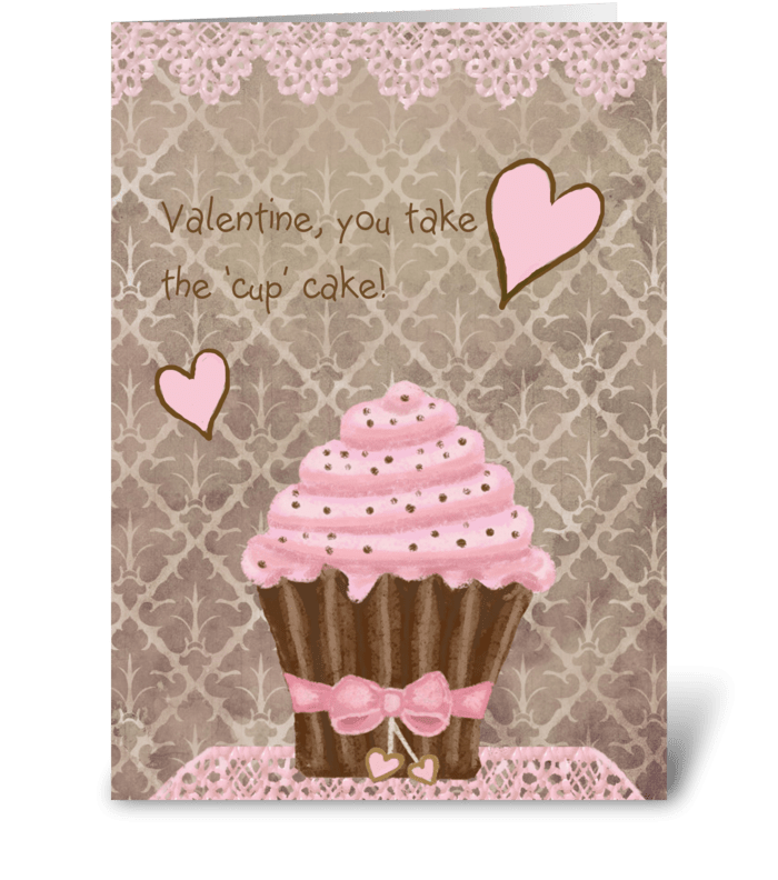 Cupcake Valentine greeting card