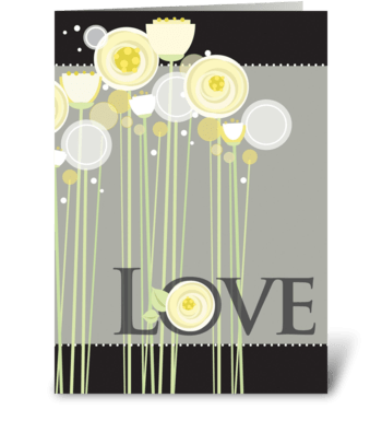 Floral Wedding Love greeting card