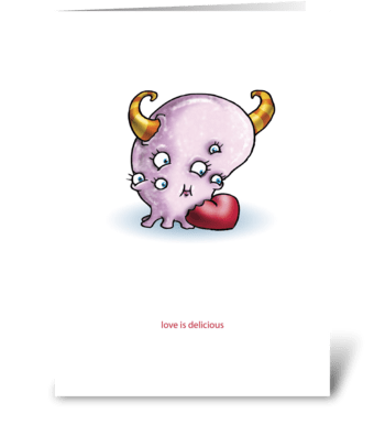 Delicious Love greeting card