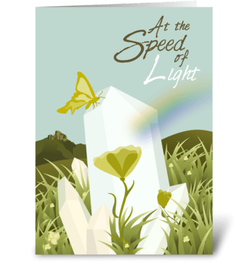 Speed of Light Recovery - Get Well greeting card