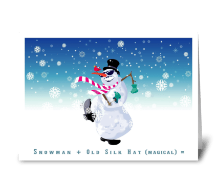 One Lively Snowman greeting card