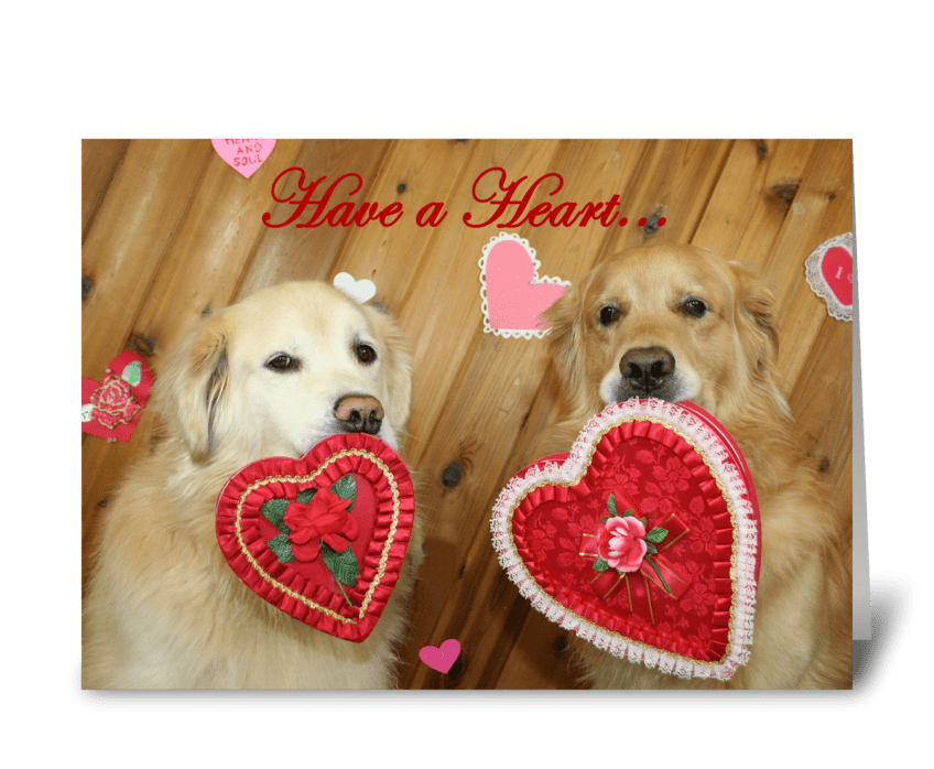Have A Heart Valentine greeting card