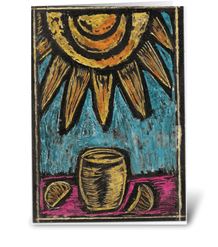 Lemonade In The Sun greeting card