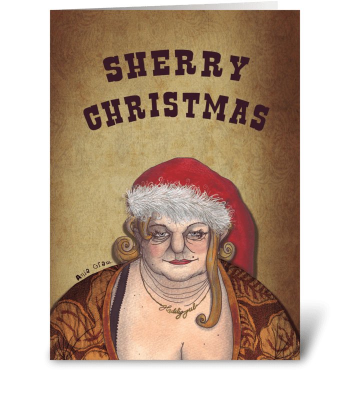 Sherry Christmas greeting card