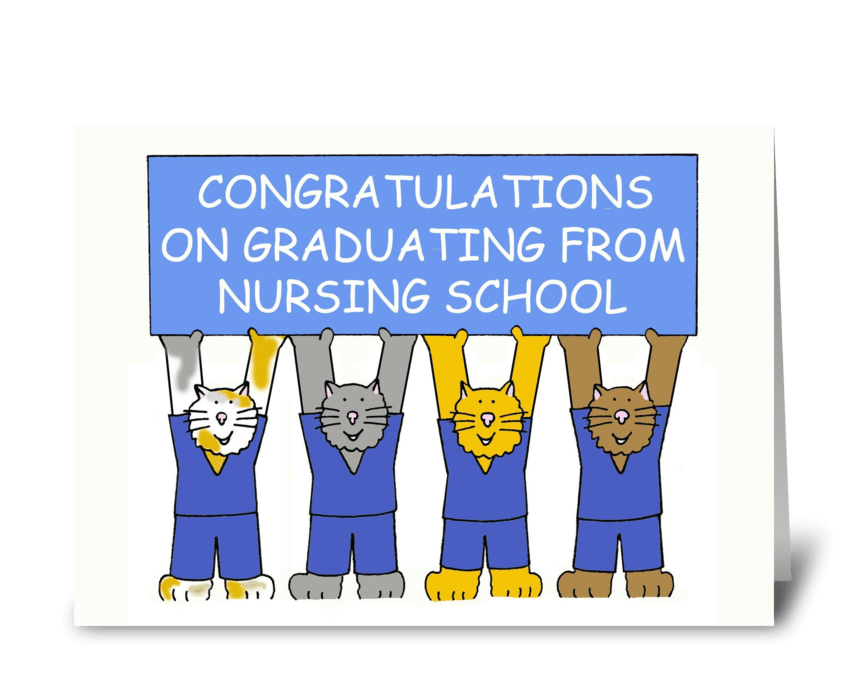 Nursing School Graduation greeting card