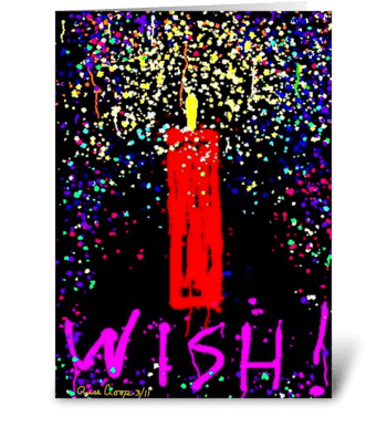 Wish greeting card