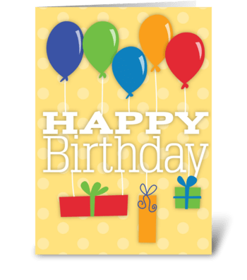 Birthday Balloons & Gifts greeting card