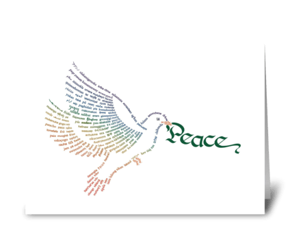 Wor(l)d Peace Dove greeting card