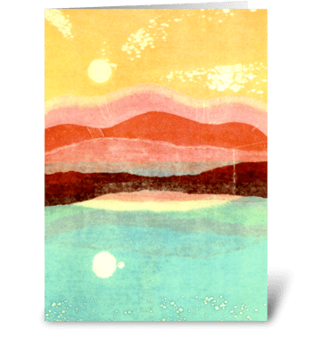 Earth and Sky by Katherine Hagstrum greeting card
