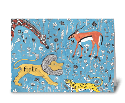 frolic greeting card