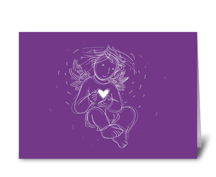 Love-angel-with-heart greeting card