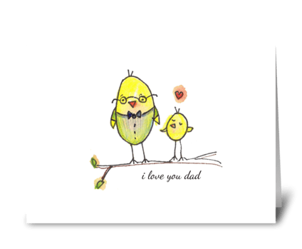 Bird Dad greeting card