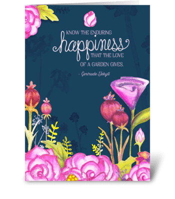 Garden of happiness greeting card