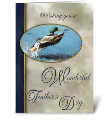 Father's Day Card with Mallard greeting card