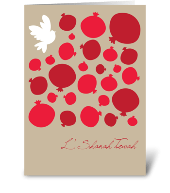 Festivus pomegranates greeting card