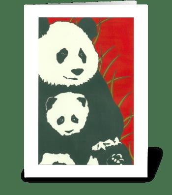 Penelope's Pandas greeting card