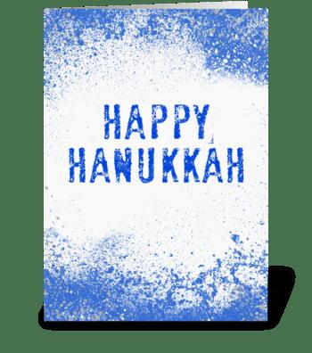 Splashy Happy Hanukkah greeting card
