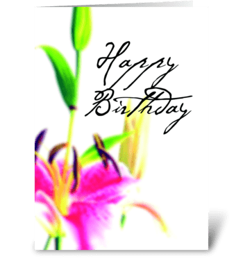 Birthday Dream greeting card