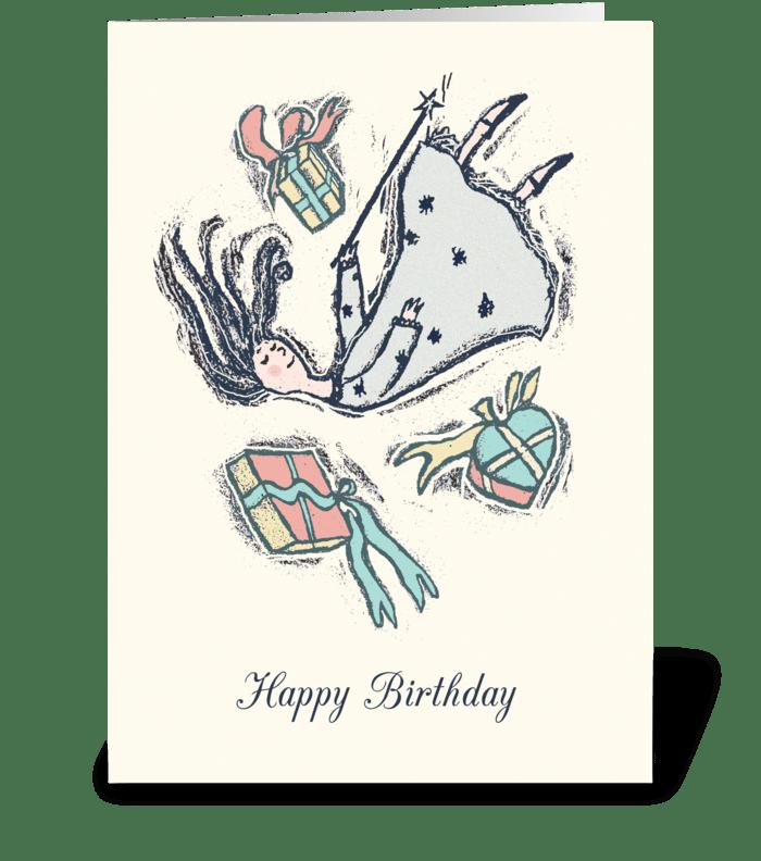 Happy Birthday Princess greeting card