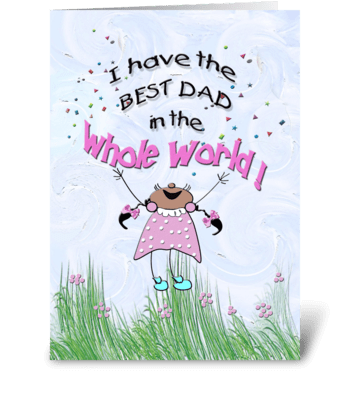 Best Dad, BIRTHDAY greeting card
