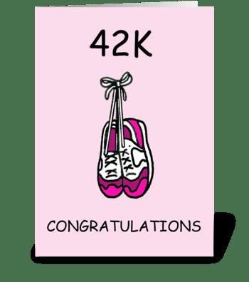 Marathon Congratulations for a lady. greeting card