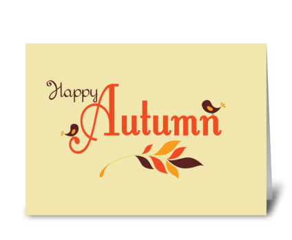Happy Autumn greeting card